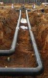 中心输油管精炼厂西方的西伯利亚 免版税库存照片