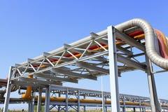 中心输油管精炼厂西方的西伯利亚 库存图片
