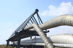 中心输油管精炼厂西方的西伯利亚 库存照片