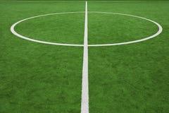 中心边线足球 免版税库存图片