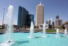 中心迪拜商业世界 免版税库存照片
