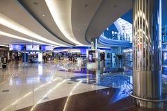 中心迪拜国际shoping的视图 图库摄影