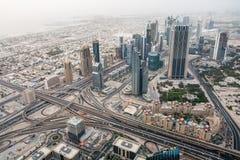 中心迪拜财务国际 库存照片