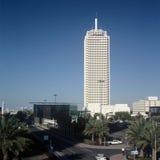 中心迪拜dwtc贸易世界 库存图片