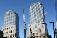 中心重建贸易世界 免版税图库摄影