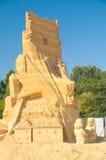 中心雕塑 免版税库存图片