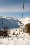 中心马其顿mavrovo滑雪 免版税图库摄影