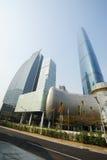 中心财务广州gzifc国际 免版税库存图片