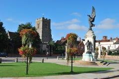 中心colchester城镇 库存图片