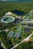 中心crandon公园网球 图库摄影