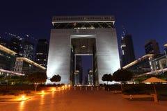 中心difc财务的迪拜 库存照片