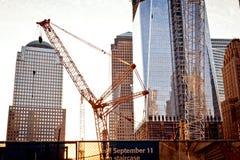 中心onstruction贸易世界 免版税库存图片