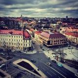 中心Vilniuse,立陶宛 库存照片