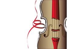 中提琴和丝带 免版税库存照片