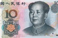 中文报纸金钱 免版税库存照片