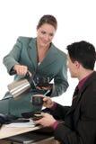 中断企业咖啡办公室 免版税库存照片