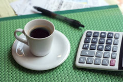 中断企业咖啡 免版税库存图片