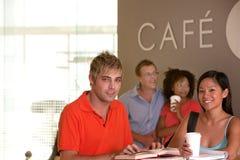 中断咖啡学员采取 免版税库存照片