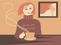 中断咖啡 库存例证