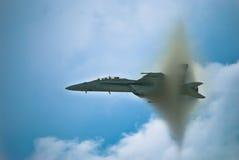 中断喷气机声音的障碍 库存照片
