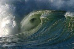 中断夏威夷海洋waimea通知的海湾 免版税库存照片