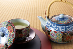 中断日本式茶 免版税库存照片