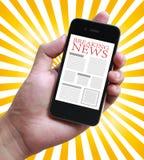 中断每次最新的新闻更新 库存图片