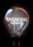 中断每次最新的新闻更新 免版税图库摄影