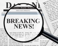 中断每次最新的新闻更新 免版税库存照片