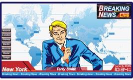 中断每次最新的新闻更新 免版税库存图片