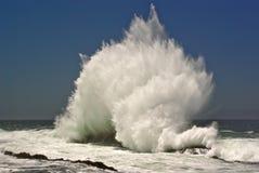 中断海浪的海滩 免版税库存图片
