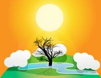 中断的结构树 免版税库存照片
