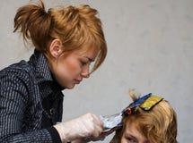 中断的美发师 免版税库存照片