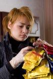 中断的美发师 免版税库存图片