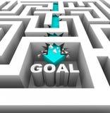 中断目标伸手可及的距离对墙壁 库存例证