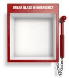 中断紧急玻璃 库存图片