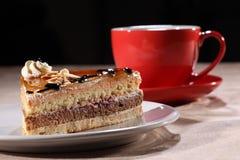 中断蛋糕咖啡点心片式时间 图库摄影