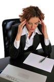 中断采取对妇女的企业de重点 免版税库存照片