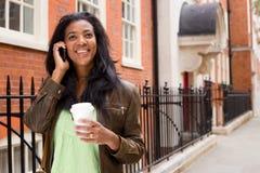中断购买权咖啡日艰难办公室电话时期对工作 免版税库存照片