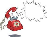 中断购买权咖啡日艰难办公室电话时期对工作 向量例证