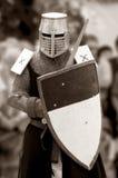 中期世纪的骑士。 免版税库存照片