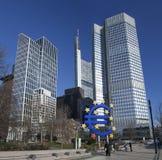 中欧的银行 库存照片
