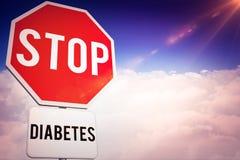 中止糖尿病的综合图象 免版税库存照片