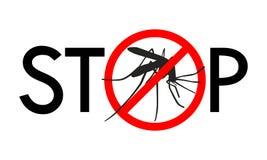 中止蚊子标志 库存例证