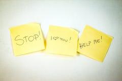 中止!我爱你!帮助我! 免版税库存图片