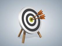 击中目标的箭头 免版税库存图片