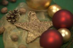 中看不中用的物品圣诞节星形 免版税库存照片