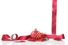 中看不中用的物品圣诞节杂烩丝带 免版税库存图片