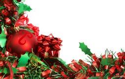 中看不中用的物品圣诞节红色闪亮金&# 库存照片