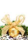 中看不中用的物品圣诞节金闪亮金属&# 免版税图库摄影